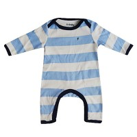 French Connection - Blue Stripey Babygrow