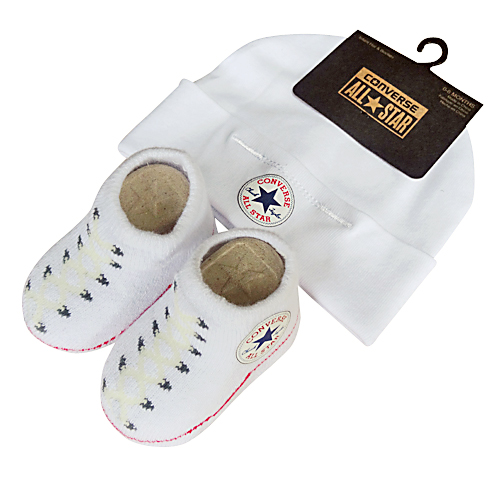 Converse Baby WHITE Hat   Sock ... c0472d022205