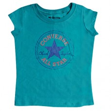Converse Older Girls Turquoise T-shirt