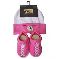 Converse Baby Hat & Sock