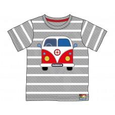 Dudeskin Campervan Grey Stripey T-shirt