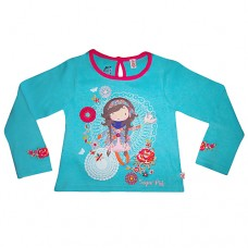 Sugar Pink Long Sleeve Aqua Girl T-shirt