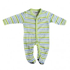 French Connection - Green Stripey Babygrow