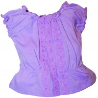 Sugar Pink  Purple Chambrey Top