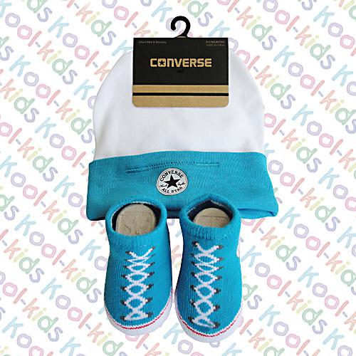 ... Converse Baby WHITE Hat   Sock 3abb4654df61