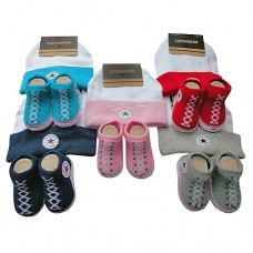 Converse Baby Hat & Socks